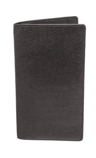 Louis Vuitton Black Ron Checkbook Long Wallet