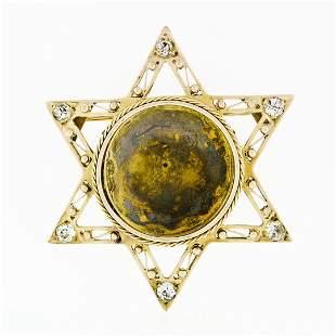 Antique 14k Gold .50 ctw European Diamond Star of David