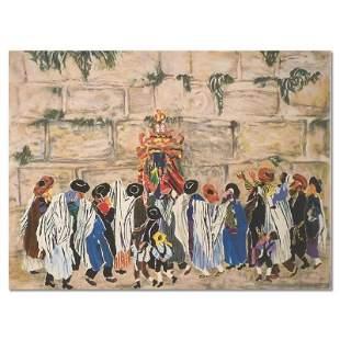 Simha Tora at the Wall by Yellin, Judith