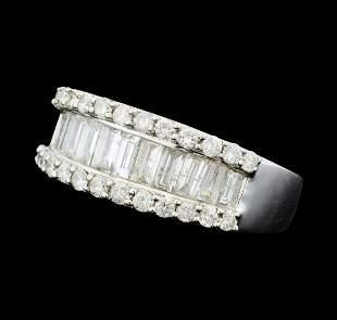 1.95 ctw Diamond Band - 14KT White Gold