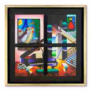 Paris Lovers with Music (4 Pcs 6X6 Framed) by Ferjo