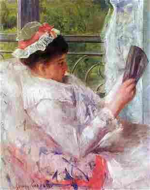 Mary Cassatt - Reading Mrs. (Lydia Cassat)