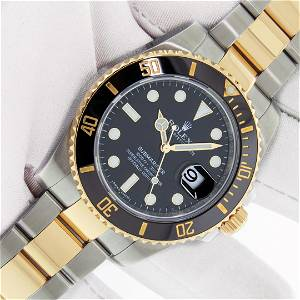 Rolex Submariner 18K Yellow Gold/SS With Box And