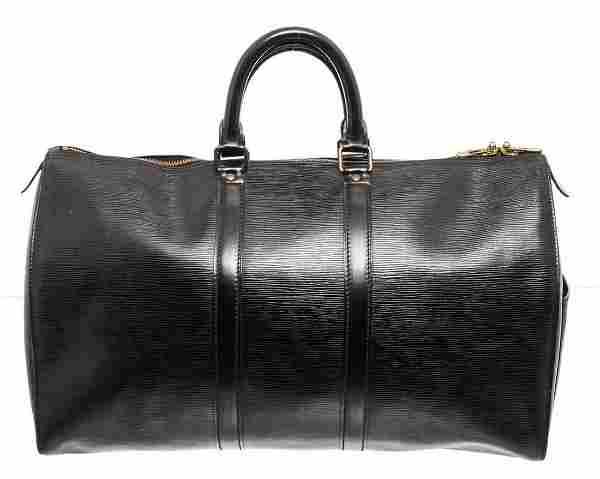 Louis Vuitton Black Epi Leather Keepall 45cm Duffle Bag