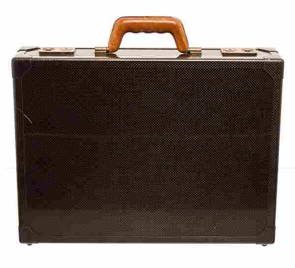 Hermes Black Vintage Carbon Fiber Briefcase