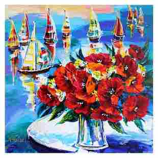 Sailboats Outside Our Window by Rafael Original