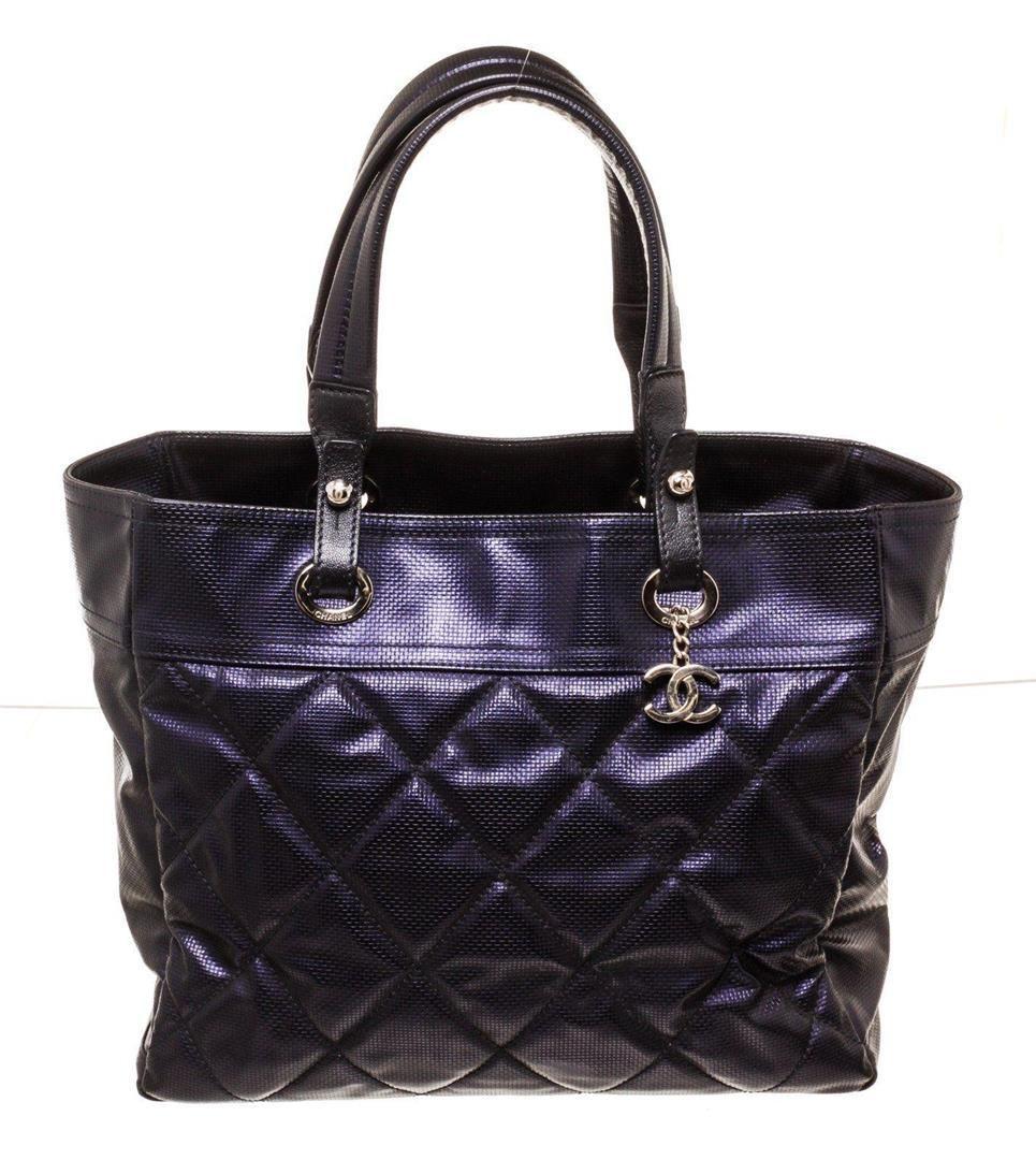 Chanel Purple Biarittz Tote Bag