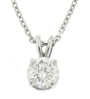 14k White Gold 0.55 ctw Round F SI1 Diamond Solitaire