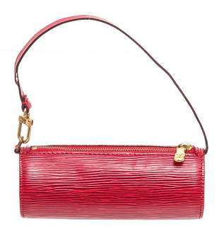 Louis Vuitton Red Epi Mini Papillon Shoulder Bag