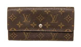 Louis Vuitton Brown Vintage Sarah Wallet