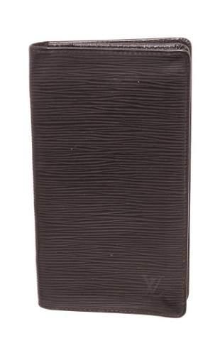 Louis Vuitton Black Epi Leather Brazza Wallet