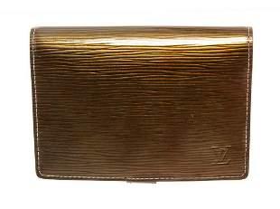 Louis Vuitton Gold Epi Leather Agenda PM Wallet