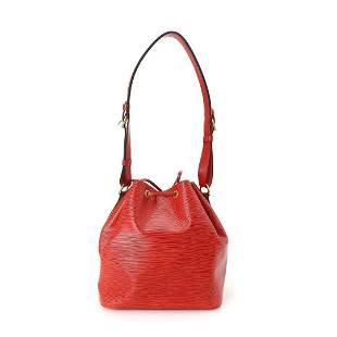 Louis Vuitton Red Petit Noe Shoulder Bag