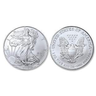2000 American Silver Eagle .999 Fine Silver Dollar Coin