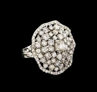 14KT White Gold 3.86 ctw Diamond Ring