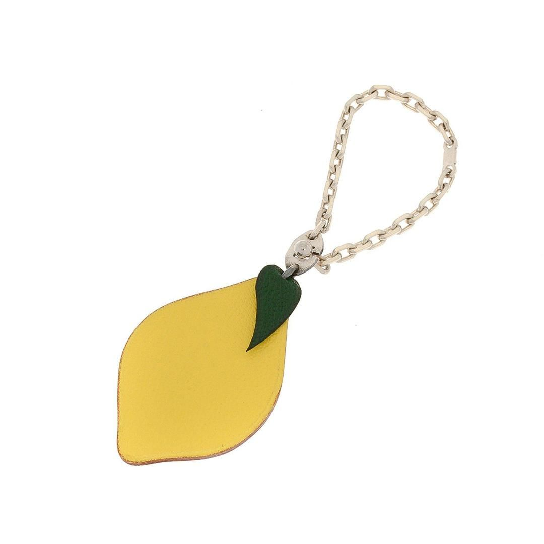 Hermes Yellow Leather Lemon Chain Key Charm Bag