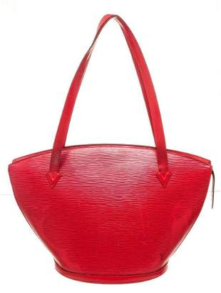 Louis Vuitton Red St. Jacques GM Tote Bag