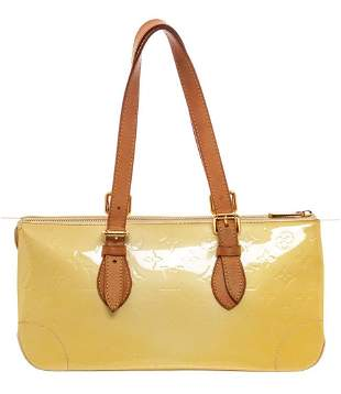 Louis Vuitton Yellow Monogram Vernis Rosewood Shoulder