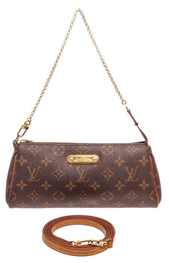 Louis Vuitton Brown Eva Pochette Shoulder Bag