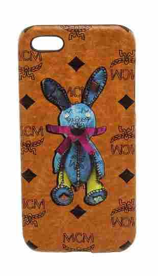 MCM Cognac Visetos Coated Canvas Rabbit iPhone 5 Hard