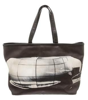 Chanel Black Canvas Karl Lagerfeld Le Mobile Art Tote