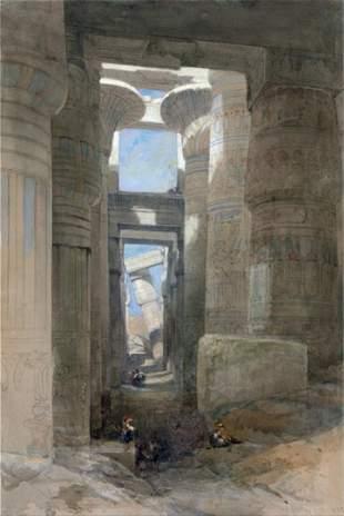 David Roberts - The Great Temple of Amon Karnak