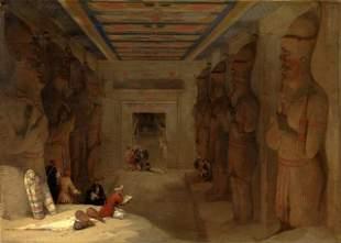 David Roberts - Great Temple at Abu Simbel, Egypt