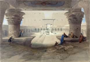 David Roberts - Portico of the Temple of Edfu in Upper