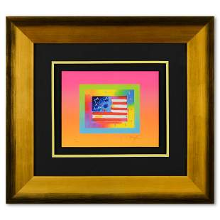 Flag with Heart on Blends by Peter Max
