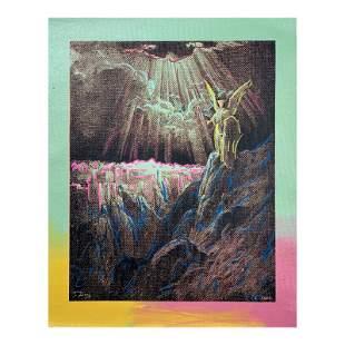 Guardian Angel by Steve Kaufman (1960-2010)