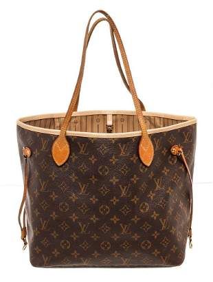 Louis Vuitton Brown Monogram Canvas Neverfull MM Totes