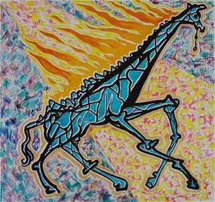 """Salvador Dali """"Burning Giraffe"""""""