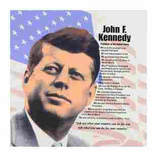 John F. Kennedy by Steve Kaufman (1960-2010)