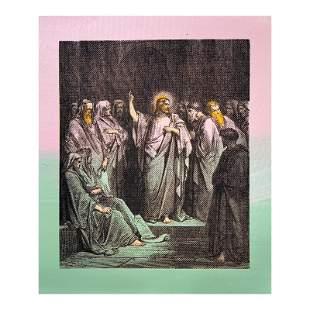 Jesus in the Temple by Steve Kaufman (1960-2010)