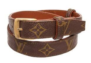 Louis Vuitton Brown Monogram Vintage Belt