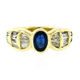 Trevi 18kt Yellow Gold 1.90 ctw Oval Sapphire &