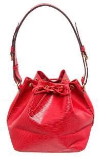 Louis Vuitton Red Epi Leather Noe GM Drawstring