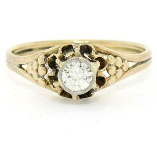 Antique 14kt Yellow and White Gold 0.30 ctw Diamond