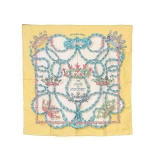 Hermes Multi Le Sacre du Printed Silk Scarf