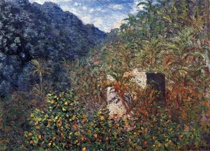 Claude Monet - The Valley Sasso, Bordighera