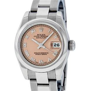 Rolex Ladies New Style 26 Quickset Datejust Salmon
