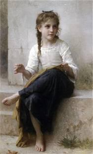 William Bouguereau - Sewing