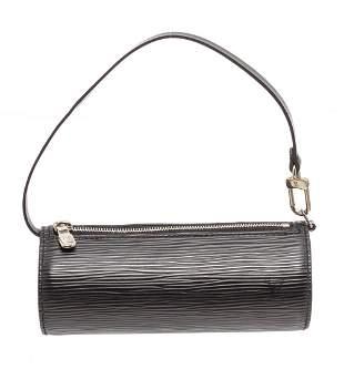 Louis Vuitton Black Epi Leather SHW Mini Papillon