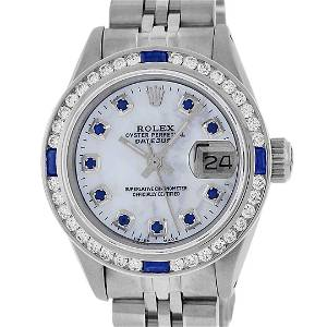 Rolex Ladies Stainless Steel MOP Diamond & Channel Set