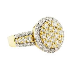 2.26 ctw Diamond Ring - 18KT Yellow With Rhodium