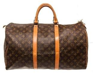 Louis Vuitton Brown Keepall 50cm Travel Bag