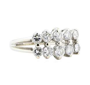 1.56 ctw Diamond Five Stone Ring - 14KT White Gold