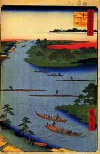 Hiroshige - Nakagawa River Mouth