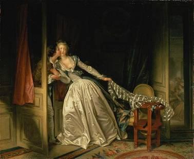 Jean-Honor� Fragonard - The Stolen Kiss