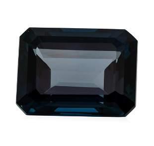 34.21 ct. Natural Emerald Cut London Blue Topaz